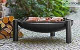 2 in 1 Korono Feuerschale 80 cm mit Loch & Grill Rost 58x58 cm | Grillen & Chillen | Feuerstelle - Feuergrill
