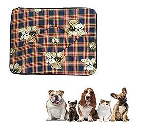 Ducomi® Tobia-Tapis Niche et lit pour chien et chat avec doublure imperméable-Coussin hydrofuge pour chiens, chats et animaux domestiques