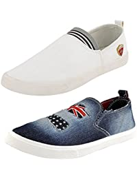 Maddy New Combo Pack of 2 Loafer Shoes For Men In Various Sizes