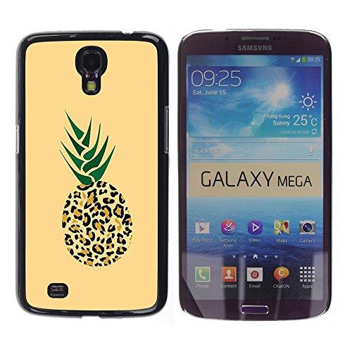 WonderWall Tapete Bunt Bild Handy Hart Schutz hülle Case Cover Schale Etui für Samsung Galaxy Mega 6.3 I9200 SGH-i527 - 420 puma Ananas Unkraut Cannabis