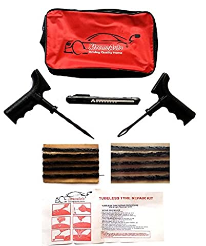 XtremeAuto® CAR VAN TYRE TIRE PUNCTURE REPAIR KIT WITH 10 STRIPS