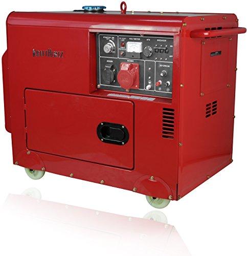 Diesel Stromerzeuger 230V + 400V Starkstrom Generator 5500 Watt - Diesel-generatoren