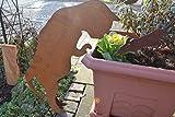 Katze für Haus und Garten - Gartendekoraton Rost - Qualitativ hochwertig - Katze mit Pfoten zum Einhängen