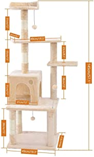 Cat Toy Scratching Wood Climbing Tree Cat Jumping Toy with Ladder Climbing Frame Cat Furniture Scratching Post one piece (AM