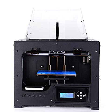 QIDI TECH Double extrudeuse Desktop imprimante 3D,Fully Metal Frame Structure - Acrylic Cover,W/2 Free Filaments