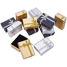 Pandahall Elite 12 pcs Cajas de Cartón Collar con Cinta Lazo para Regalos y Joyas,