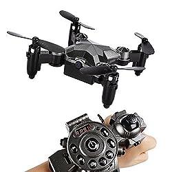 SainSmart Jr. Drohne Mini Drone mit Kamera Armbanduhr Kontrolle 2.4G 4CH 6-Axis 0.3MP Quadrocopter für Kinder ab 14 Jahren Anfänger