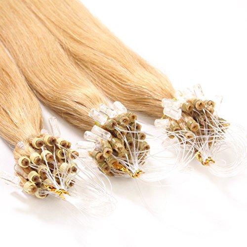 Just Beautiful Hair and Cosmetics Lot de 100 extensions Remy Loop avec micro anneaux pour pose à froid 50 cm