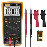 Digital Multimeter,Thsinde Auto-Ranging Digital Multimeter with Alligator Clips, AC Voltage Tester,Voltage Alert, Amp/Ohm/Volt Multi Tester/Diode and Continuity Test HZ with Backlight LCD Display