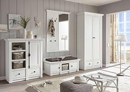 lifestyle4living Garderobe, Garderobenschrank, Garderoben-Set, Flurgarderobe, Garderobenmöbel, Dielenmöbel, Flurmöbel, Garderobenpaneel, Flurschrank, Schuhkommode