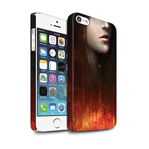 Offiziell Chris Cold Hülle / Matte Snap-On Case für Apple iPhone 5/5S / Industrie Maschine Muster / Gefallene Erde Kollektion Tränen der Eva