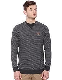 Proline Mens Black Sweat Shirt(PC13041RBK)