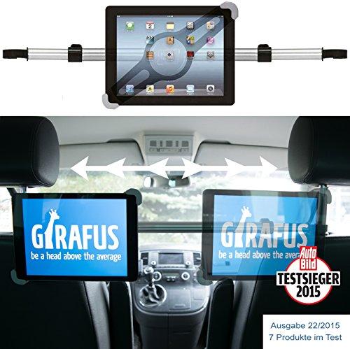 Girafus Relax H3 Universale Tablet Auto Kfz-Kopfstützen-Halterung für Rücksitz für 9-10-11 Zoll Tablets - iPad, Galaxy Tab, Fire HD 10 – Mittig platzierbar für optimale Sicht von der Rücksitzbank Test
