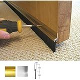 Stormguard 02SR0190838G - Guarnizione paraspifferi a spazzola con pinna in alluminio, applicazione nella parte inferiore delle porte, ideale per sigillare fessure fino a 1,5 cm 838 mm Oro