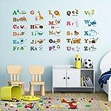 Decowall DW-1308 Alphabet & Tiere Wandsticker Wandaufkleber Wandtattoo Kinderzimmer (Mittlere) - 2