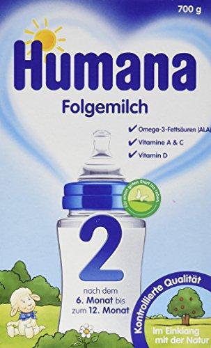 Humana Folgemilch 2 mit GOS, 1er Pack (1 x 700 g) (Ballaststoffe Prebiotische)