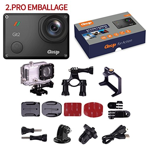 YSILE GIT2 2K Action Camera - Pro Edition - 1080p HD+WiFi Functionality+1.5