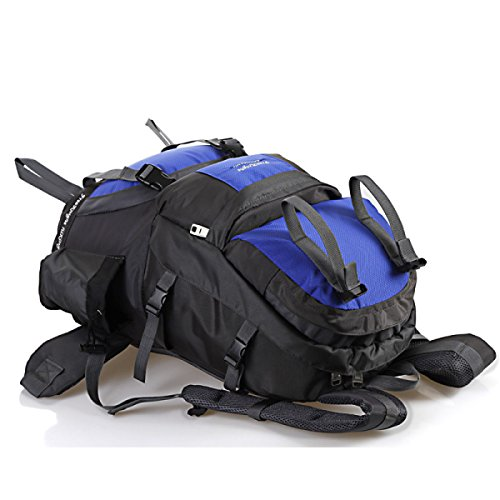 Impermeabile Nylon Sacchetti Di Alpinismo Di Grande Capacità Esterno Trekking Viaggi Sacchetti Di Spalla Black