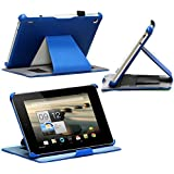 Navitech Faux Leather Case Cover For The Acer Iconia A1 810 7.9 Inch (multi stand case, Blue)