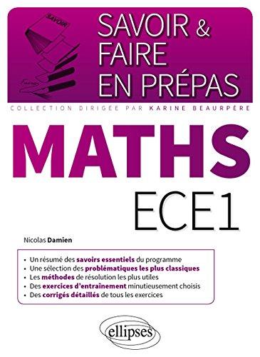 Maths ECE1 par Nicolas Damien