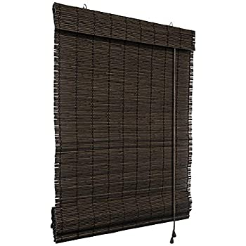 Victoria M Bamboo Roman Blind 90 X 160 Cm In Dark Brown