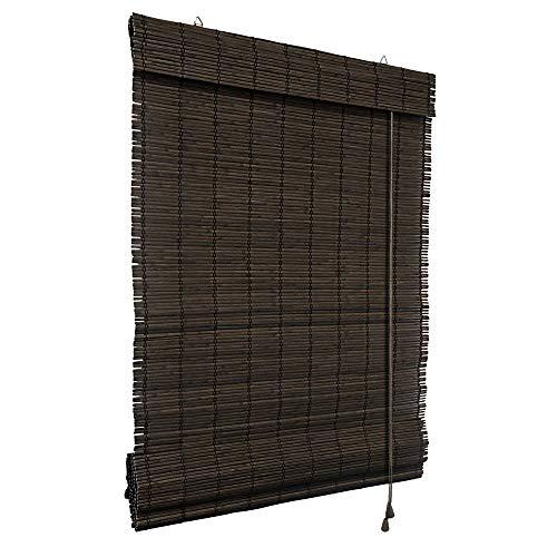 Victoria m. klemmfix tenda a pacchetto in bambù per interni, 80 x 160 cm in marrone scuro, montabile senza fori
