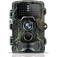 odthelda Wildlife Trail Kamera 12MP 1080P Jagd Pfadfinder Spiel Cam mit, Infrarot LED Nacht Version Motion aktiviert bis zu 65ft IP56Wasserdichte Kamera für Außen Outdoor Überwachungskamera Home Sicherheit