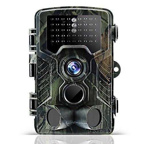 Odthelda Fotocamera da Caccia 12MP 1080P Scouting Trail Gioco Camma 42pcs LED Infrarosso Visione Notturna IP56 Macchina Fotografica Impermeabile All'aperto Sorveglianza Casa