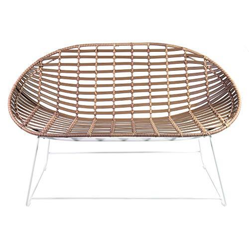 Shell Garten (acapulcosessel Shell Lounge Relax Bank für Garten Terrasse Balkon im Bamboo Look)