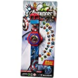 """Kid's """"Avenger """" Projector Toy Watch with 24 Automatic Projector Grids Education Cartoon Grid Projector Toy(Best for Birthday Gift and Kids Gift)."""