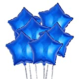 toymy Toy palloncini foil Stella 18pollici pellicola Elio palloncini decorazione per festa San Valentino Matrimonio 6pcs (blu)