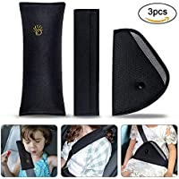 Almohadillas para Cinturón Coche Seguridad, URAQT Almohadillas Protectores de Hombro, Auto Almohada para Cinturón de Seguridad Soporte de la Cabeza Proteja Hombro para Niños Bebés Adultos