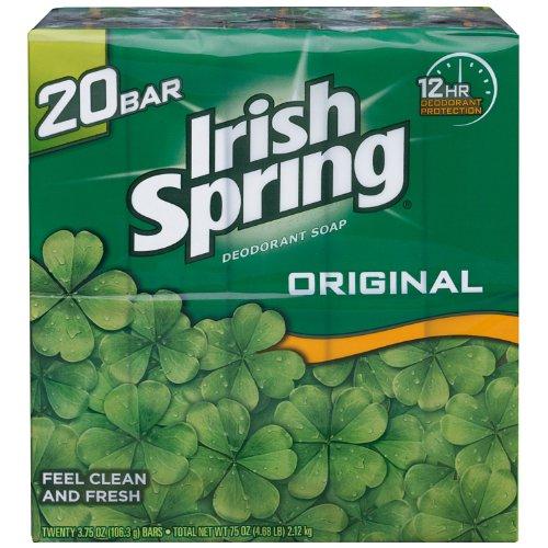 Irish Spring-Deodorant Soap, 20/4.0 oz bars