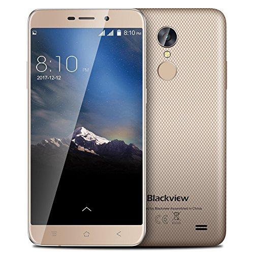 Blackview A10 5,0 Zoll HD Smartphone MTK6580A QuadCore Bildschirm 2 GB RAM 16 GB ROM Telefon Hinterer Touch ID 3G Telefon