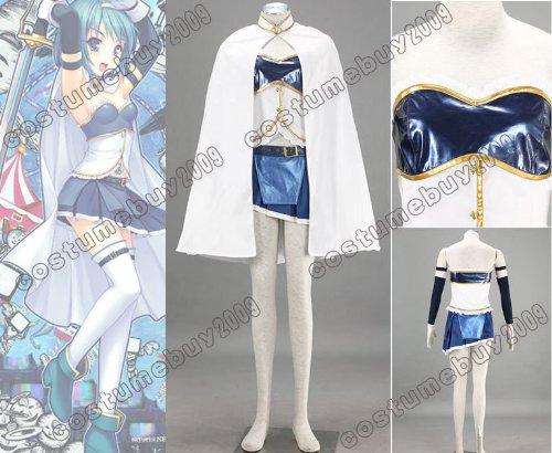 Puella Magi Madoka Magica Miki Sayaka Cosplay Kostüme Brauch(Mailen Sie uns Ihre Größe),Größe XXL:175-180 (Sayaka Miki Kostüm)