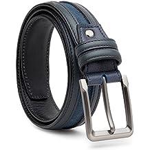 Escaro Royale Suede-Leather Belt -High finish Gun Metal Buckle