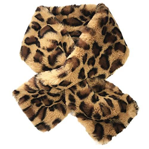 Nysunshine 12x80cm Frauen Winter Falsche Faux Fell Schal, Leopardenmuster EIN Halsband, Tägliche Dekoration