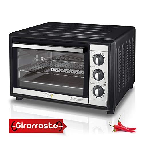 Spice Forno Elettrico Ventilato Habanero con Girarrosto 60 Litri, 2200 Watt, 5 Selezioni di Cottura Inclusa Statica