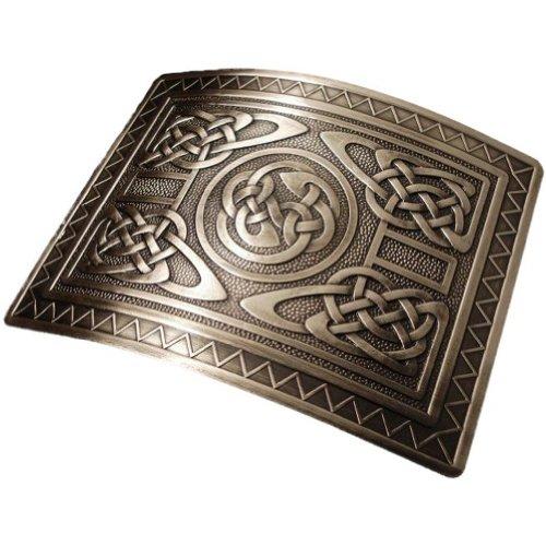 Glen Esk - Herren Gürtelschnalle für Kilt-Gürtel - traditioneller irischer oder schottischer Stil - Knoten-Design in Antik-Optik Highland Swirl