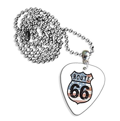 Route 66Logo Collier de guitare (GD)