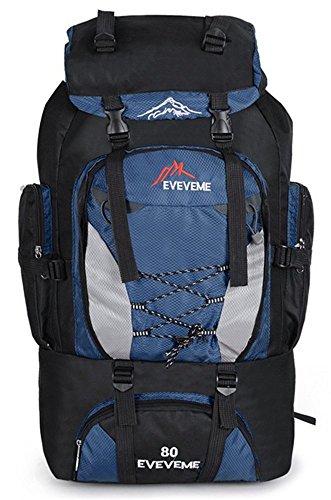 YOGLY 80L Travel Backpack Grande randonnée Sac de bagage pour les voyages en plein air Escalade Camping 70 x 40 x 20 cm
