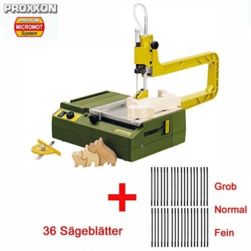 PROXXON Dekupiersäge / Elektrische Laubsäge DS 230/E Set - inkl. 36-tlg. Sägeblätterset (grob, normal und feinverzahnt)