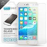 Yousave Accessories iPhone 6S Protection D'écran Transparent Verre Trempé [Ultra Mince 0.3mm / Classement de dureté 9H]