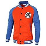 PIZZ ANNU Dragon Ball Wu Wort Baseball Uniform Jacke (Orange&Blau M)