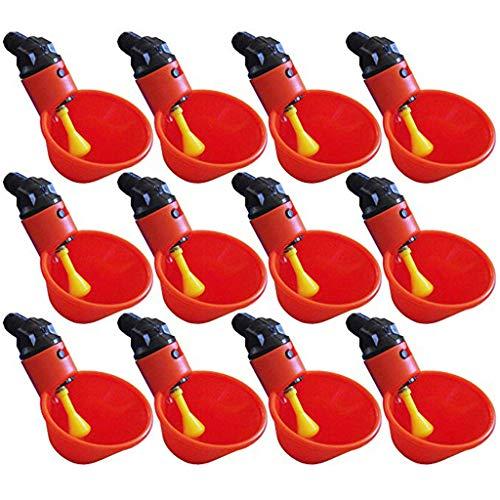 Produktbild Serria® Automatische Futterautomat Kunststoff Chicken Drinker Cups 12Pcs Geflügel Waterer Water Drinking Dispenser Cups Schüsseln Wassertrinker Werkzeug für Vogel Wachtel Taube Huhn Henne