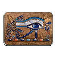 BIRSY Doormats Indoor Entrance Ches Egyptian Papyrus Horus Eye Floor Mats For Shoe Scraper Rug Outdoor Bathroom Carpet 18x30(IN)