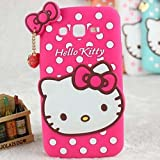 #9: Soft silicone scratch resistant hello kitty case for Samsung Galaxy Grand 2 G7106 Pink