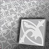 Zementfliesen Mondial grau weiß (Bestelleinheit: Karton mit 10 Fliesen)