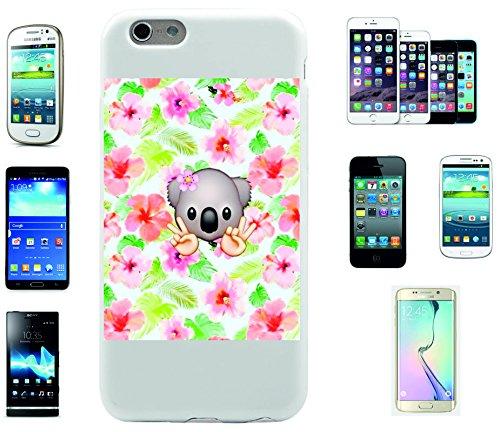 """Smartphone Case Apple IPhone 6+ Plus / 6S+ Plus """"Koalabärenkopf mit Blume und Bunten Blumen im Hintergrund"""", der wohl schönste Smartphone Schutz aller Zeiten."""