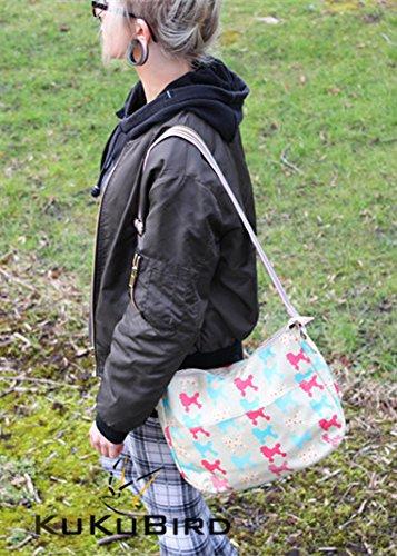 Kukubird Vari Animali E Disegno Fiore Multiuso Crossbody Spalla Top-manico Del Totalizzatore Pink Rabbit